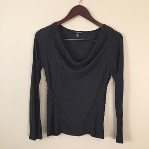 Cable and gauge cowl neck long sleeve